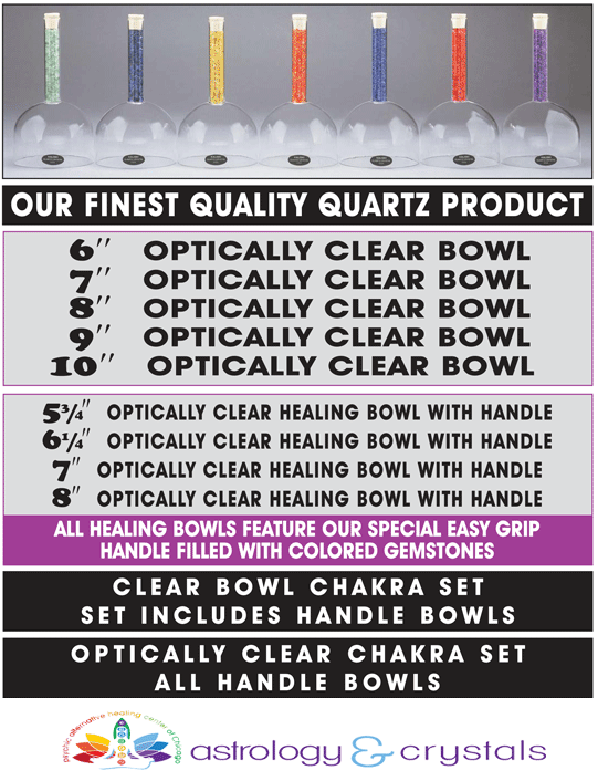 Astrology and Crystals crystal chakra meditation bowls