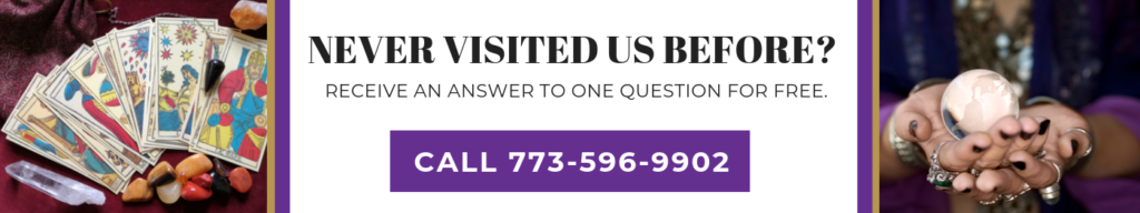 Never had a psychic reading from us? Receive one answer free!