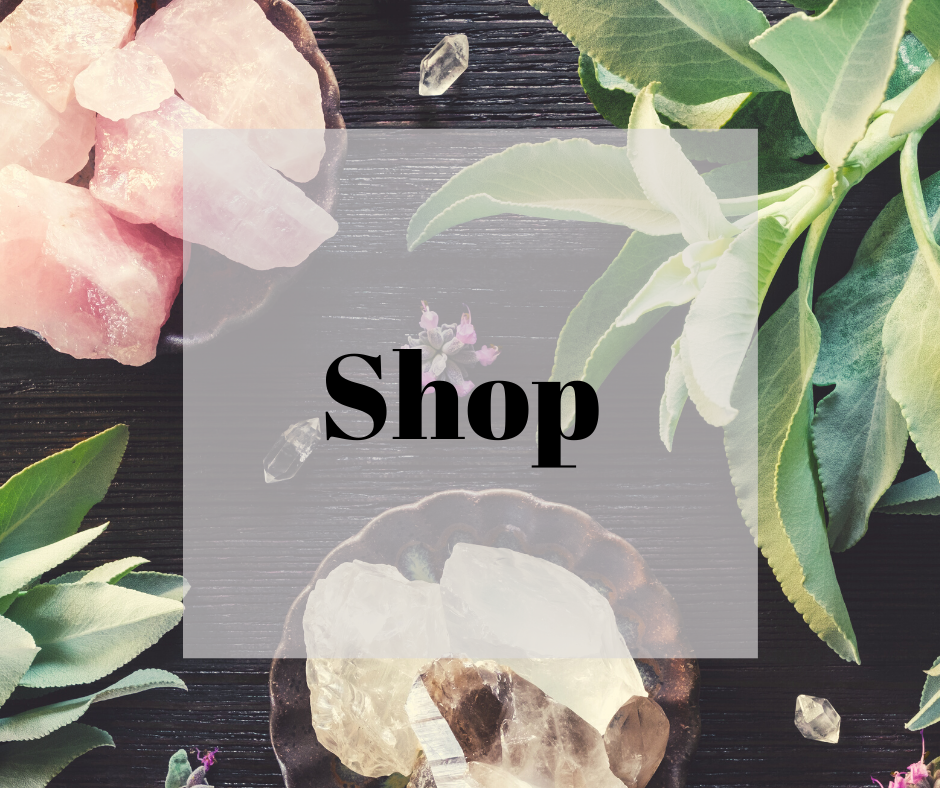 shop crystals, essential oils, chakra balancing tools and more